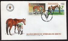 CHILE FDC COVER 1998 STAMP # 1896/7 VETERINARY HORSE