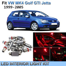 15x Red Interior LED Lights Package Kit for 1999-2005 VW MK4 Golf GTI Jetta