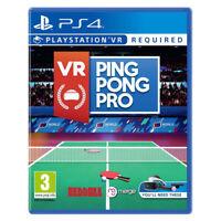 VR Ping Pong Pro PlayStation PS4 PSVR 2019 EU English Factory Sealed