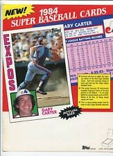 1984 Topps Baseball Cards  Selling sheet sales sheet vendor info rare    MBX80