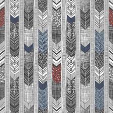 G56380 - Global Fusion Multicoloured Darts & Stripes Galerie Wallpaper