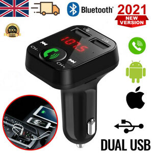 In Car Wireless Bluetooth FM Transmitter MP3 Player 2 USB Charger Handsfree Kit