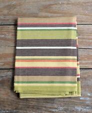 Park Designs Dishtowel Sesame Striped Brown Green Gold Cotton Kitchen Towel
