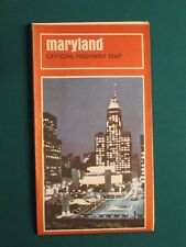 MARYLAND STATE 1970 ROAD MAP