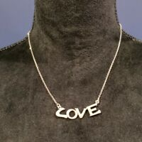 """REEB STERLING SILVER """"LOVE""""  NECKLACE 17"""" 925 ITALY VINTAGE"""
