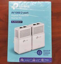 TP-LINK AV1000 2-port Gigabit Power line Adapter TL-PA7020 Wifi Range Extender