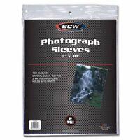 BCW 8x10 Photo Sleeves 100 Soft Poly Protectors 2 Mil Acid Free Safe Storage