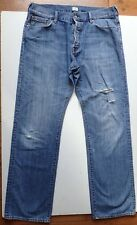 PAUL SMITH MENS DISTRESSED BLUE STRAIGHT LEG DENIM JEANS 38 EXTRA LONG 36 LEG