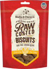 Stella & Chewy's RAW COATED GRASS FED DOG BISCUITS Dog Treats 9 oz CHICKEN USA