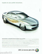 PUBLICITE ADVERTISING 026  2005  Alfa Romeo  la nouvelle berline premium 159