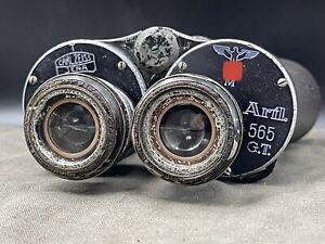 Rare 1936 WW2 Kriegsmarine Gas Mask Binoculars Carl Zeiss 7x50H Artl 565 GT