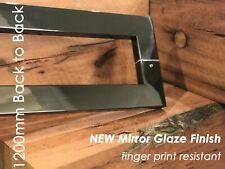 BLACK STAINLESS MIRROR GLAZE ENTRY FRONT DOOR PULL HANDLE 1200MM - back to back