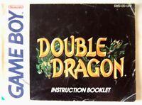 65933 Instruction Booklet - Double Dragon - Nintendo Game Boy (1990) DMG-DD-UKV