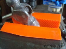 Soft Jaw Pads for Bench Vises Made from Urethane & Retained w/ Magnets-Orange