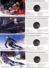 "4x5 Euro Öst 2005 ""100 Jahre Skifahren"" Hgh. im Mini-Blister"
