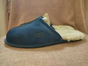 Mens Ugg Scuff Slippers, Navy Blue Colour. UK Size 10