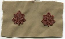 US ARMY EMBROIDERED DCU SEW ON RANK INSIGNIA SET: MAJOR  MILITARY