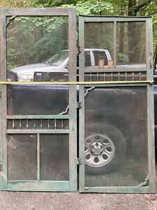 Pair Of Wood Colonial Screen Doors