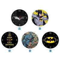 Batman Super Hero Wood Wall Clock Home Office Room Decor Gift Round