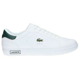 Mens Lacoste Powercourt Casual Leather Sneaker NEW
