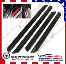 Fit Acura MDX Carbon Fiber Look Scuff Plate Door Sill Panel Step Protector Kit