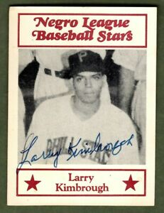 Larry Kimbrough Signed Autographed 1986 Fritsch Negro Leagues All Star #61