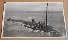 Postcard HMS Renown Naval Firing Target showing Damage unposted  1930's