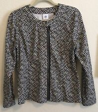 Cabi Size M Cliffside 5099 Asymmetrical Full Zip Collarless Moto Jacket A1