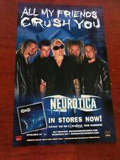 2002 Album Promo 6.5x10 Color Print Ad For Neurotica On 2002 Ozzfest Tour