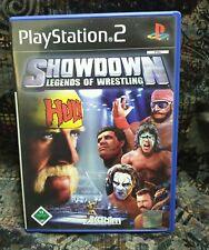 Play Station 2 Spiel PS2 Showdown - Legends of Wrestling + Anleitung