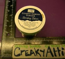 STAMPIN UP STERLING SILVER EMBOSS POWDER EMBOSSING CREAKYATTIC