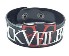 NEW BLACK VEIL BRIDES RUBBER BRACELET WRISTBAND UNISEX MEN WHITE SOUVENIRS WB151