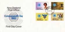 1983 New Zealand Commonwealth Day FDC with Bureau FDI.