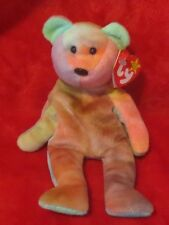 Ty Beanie Baby Garcia the Tie Dye Bear 4th Gen Hang Tag 3rd Gen Tush TAG ERROR