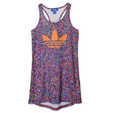 ADIDAS ORIGINALS ZX FLUX TANK DRESS TREFOIL SOMMER STRAND BEACH KLEID SHIRT 32