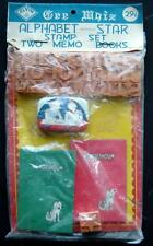 Gee Whiz Alphabet Star Stamp Set & 2 Memo Books Toy by Elvin MIP Japan Vintage