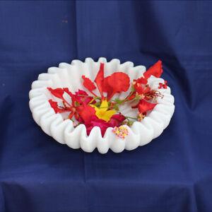 Marble bowl flower petals dried fruit bird water bath pot garden table decorativ