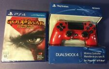 Sony PS4 DualShock 4 Wireless Controller Magma RED Edition W/ God of War 3 NEW