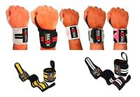 Maxx Weight Lifting Wrist Support Training Gym Straps Grip Bodybuilding Workout