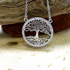 """""""Tree of Life"""" Pendant .925 Sterling Silver Cubic Zirconia Necklace"""