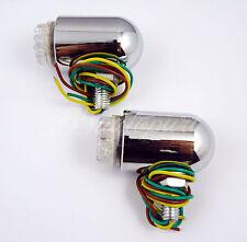Pair Universal Aluminium Alloy Motorcycle ATV White Fog Lights Bullet Lamp 12V
