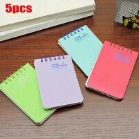 5Pcs Mini Note Book Spiral Bound Writing Notepad Small Pad Students Gifts