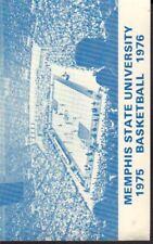 1975 Memphis State University Basketball Schedule 101917jh