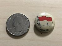 Monaco Country Flag Vintage Pin Pinback Button #35411