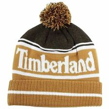 Timberland Men's Color-Blocked Logo Watch Cap Beanie Hat (One Size Fits Most)