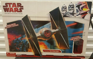 """Star Wars Legacy - Imperial Tiefighter w/Pilot 3.3/4"""" Figure Exclusive Box Set"""