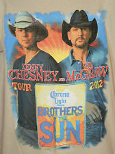 Kenny Chesney Tim McGraw 2012 Brothers of the Sun Tour Concert Shirt Size Small