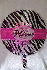 Happy Mother Day Mylar Balloon Zebra Print 18 in New