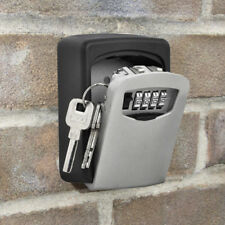 Home Key Hider Storage Box 4 Digit Security Code Lock Keys Safe Wall Mounted