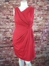Suzi Chin for Maggy Boutique Red Faux Wrap Sheath Dress Size 14